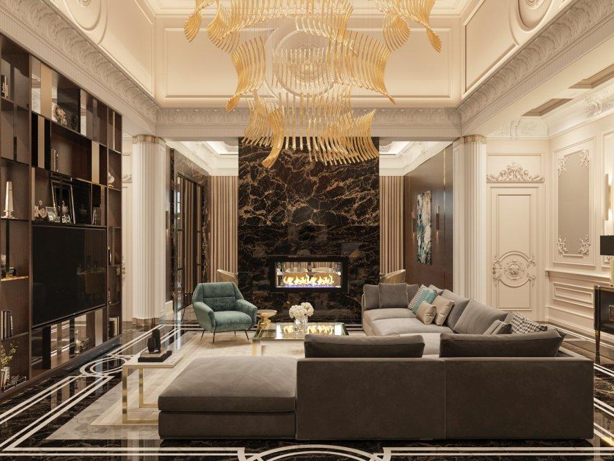 Дом с классической основой и современными акцентами 450 кв.м.